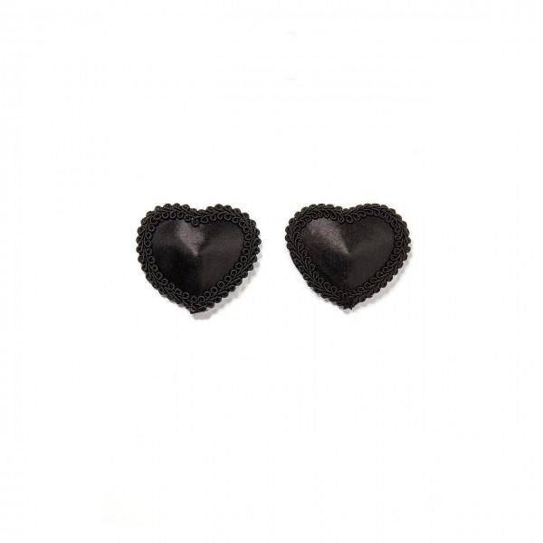 Schwarze Nipple Pasties Covers Herzform